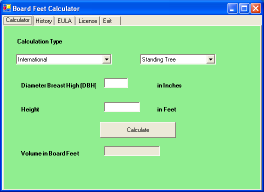 board feet calculator for windows